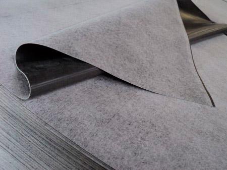 Lâmina flexível de borracha sintética, à base de polímeros, elastômeros e cargas minerais